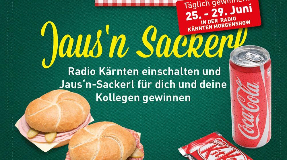 Radio Kärnten hören und Jaus'n Sackerln gewinnen