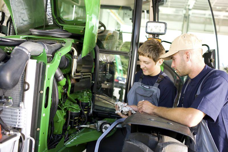 Die richtige Schmierung für den Traktor