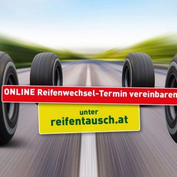 Online-Terminvereinbarung für Reifenwechsel
