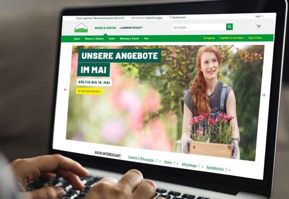 Neuer Lagerhaus Online-Shop