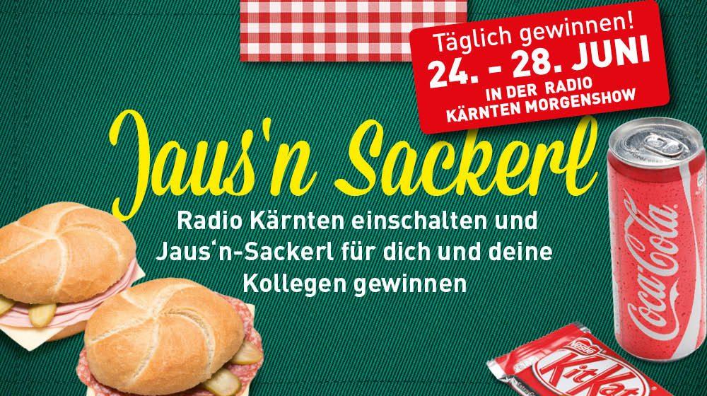 Radio Kärnten hören und Jaus'n Sackerl gewinnen