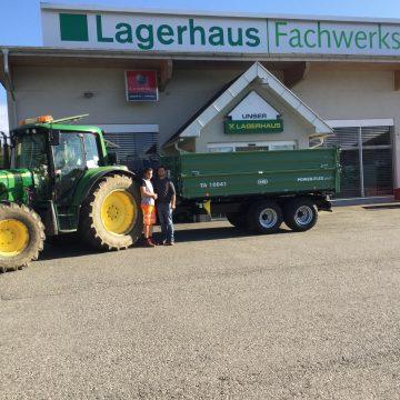 Thalhammer Andreas übernimmt einen Brandner TA  10041 Tandemkipper mit der Neuen Ausführung Power -Flex