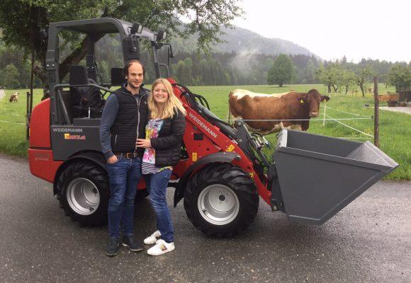 Weidemann E-Hoftrac für Fam. Felderer aus Wörgl